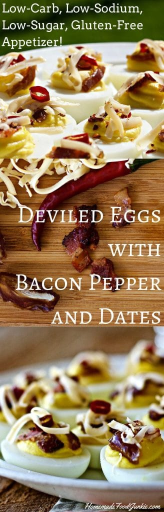 Deviled Eggs with Bacon, Peppers and Dates | Homemade Food Junkie