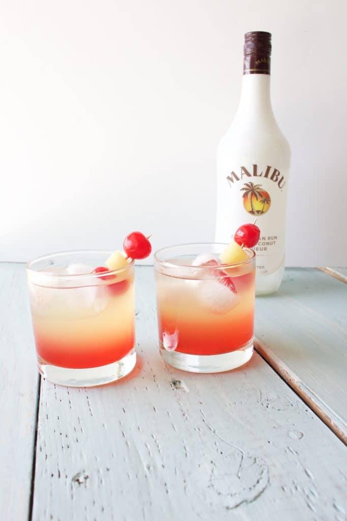 Malibu Sunset Cocktail Recipe Homemade Food Junkie