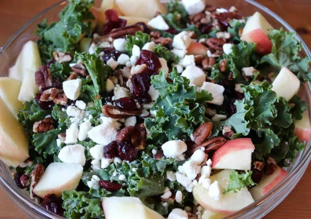 Kale Apple Salad with Honey Dressing - Homemade Food Junkie