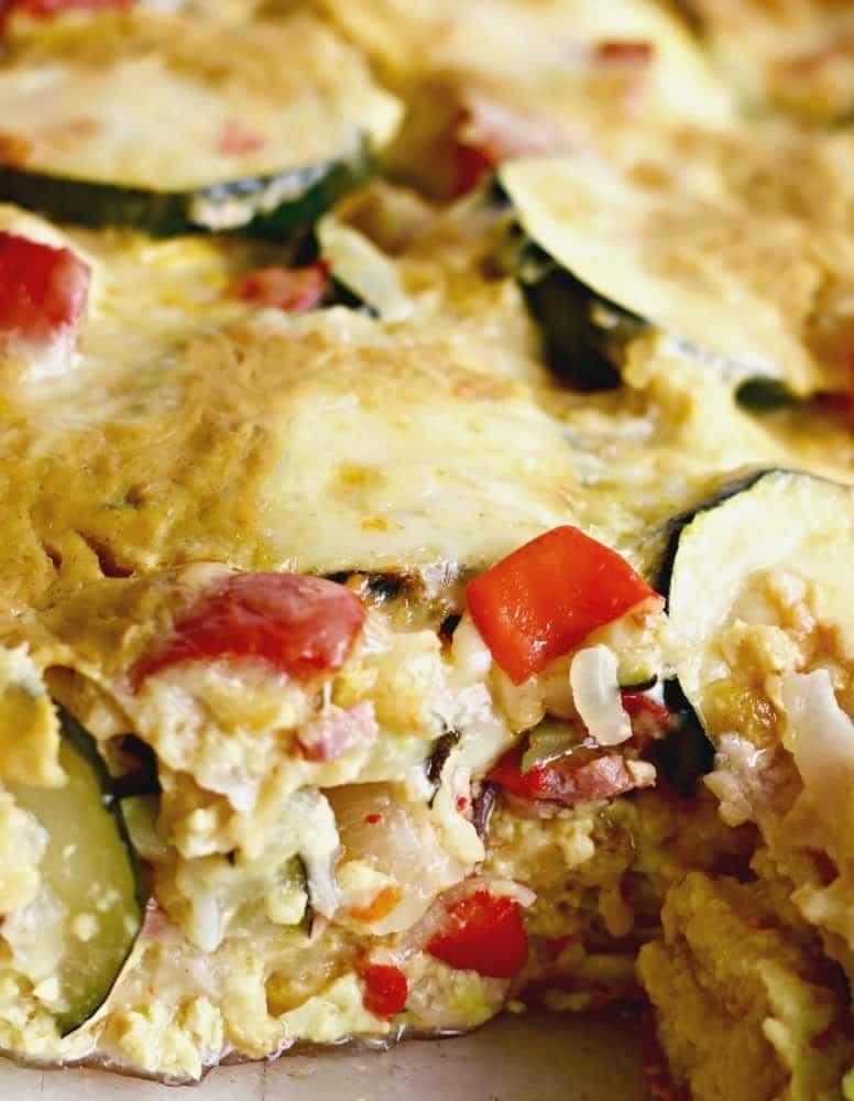 Overnight Smoky Zucchini Breakfast Casserole is chock full of fresh ...